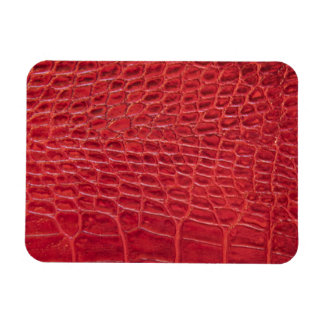 Faux red alligator leather vinyl magnets