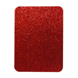 Faux Red Burgundy Glitter Background Sparkle Magnet