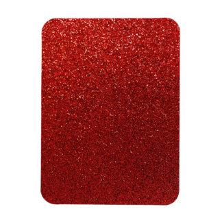 Faux Red Burgundy Glitter Background Sparkle Rectangular Photo Magnet