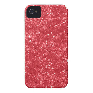 Faux Red Glitter iPhone 4 Case