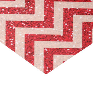 Faux red glitter tissue paper