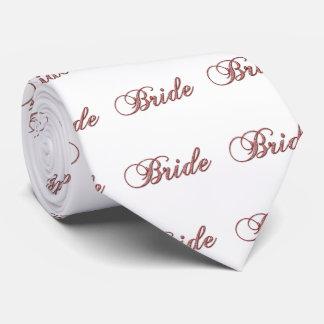 Faux red Sparkle Bride Tie