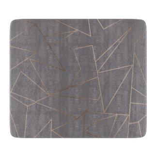 Faux rose gold elegant modern minimalist geometric cutting board