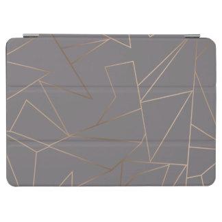 Faux rose gold elegant modern minimalist geometric iPad air cover
