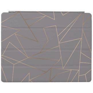 Faux rose gold elegant modern minimalist geometric iPad cover