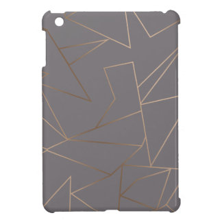 Faux rose gold elegant modern minimalist geometric iPad mini cases