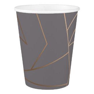 Faux rose gold elegant modern minimalist geometric paper cup