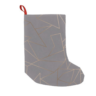 Faux rose gold elegant modern minimalist geometric small christmas stocking