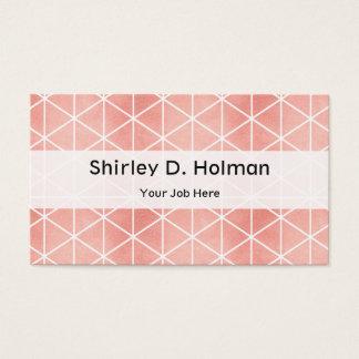 Faux Rose Gold Foil Traingle Pattern Business Card
