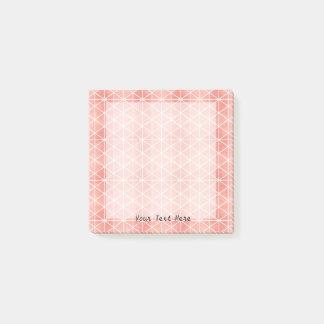 Faux Rose Gold Foil Traingle Pattern Post-it Notes