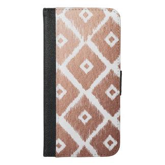 Faux Rose Gold Foil Tribal Pattern iPhone 6/6s Plus Wallet Case