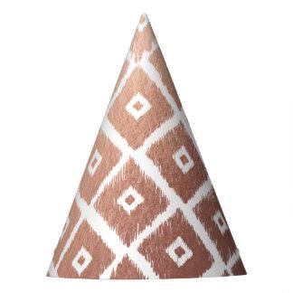 Faux Rose Gold Foil Tribal Pattern Party Hat