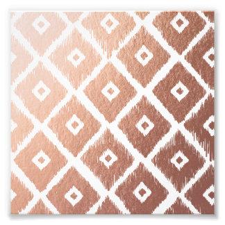 Faux Rose Gold Foil Tribal Pattern Photo Print