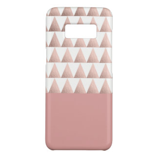 faux rose gold geometric triangles pattern Case-Mate samsung galaxy s8 case
