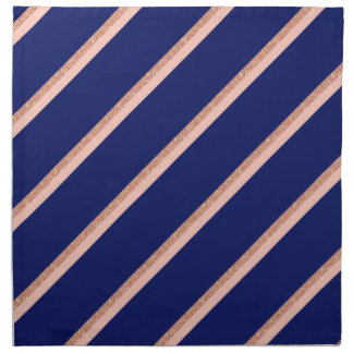 faux rose gold glitter and pink stripes pattern napkin
