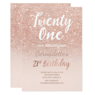 rose gold invitations announcements zazzle au