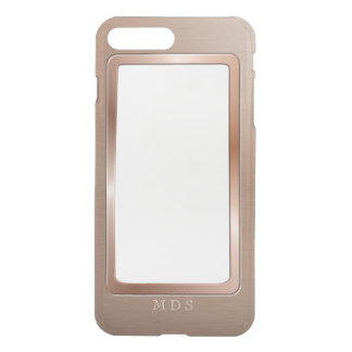 Faux Rose Gold Metal Bezel Clear Personalized iPhone 8 Plus/7 Plus Case