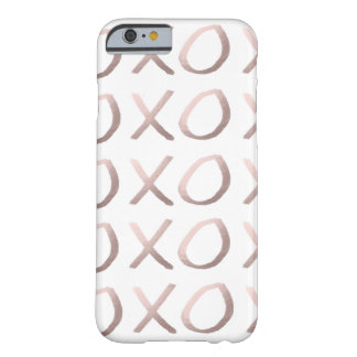 faux rose gold typography hugs and kisses xoxo barely there iPhone 6 case
