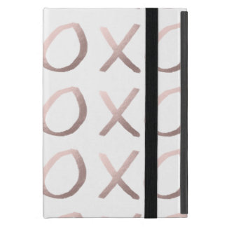 faux rose gold typography hugs and kisses xoxo cover for iPad mini