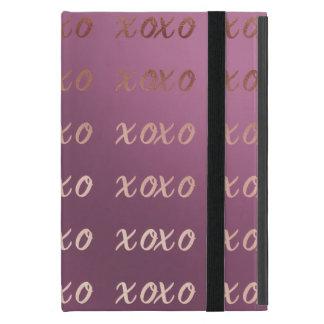 faux rose gold typography hugs and kisses xoxo iPad mini case
