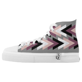 faux rose gold white marble purple black geometric high tops