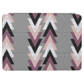 faux rose gold white marble purple black geometric iPad air cover