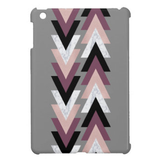 faux rose gold white marble purple black geometric iPad mini cases