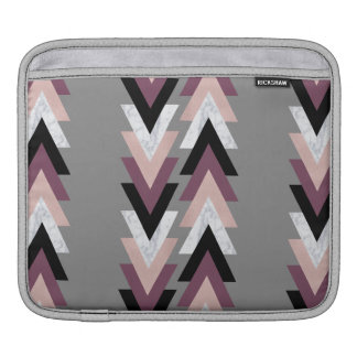 faux rose gold white marble purple black geometric iPad sleeve