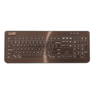 Faux Rose Gold Wireless Keyboard