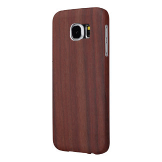 Faux Rosewood Samsung Galaxy S6 Cases