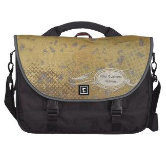 Faux Rough Industrial Grunge Masculine Business Laptop Messenger Bag