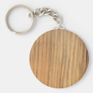 Faux Rustic Finished Barn Wood Key Ring