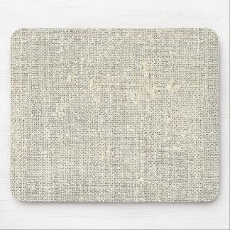 faux rustic grey burlap mouse pad