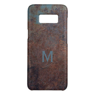 Faux Rusty Metal custom monogram phone cases
