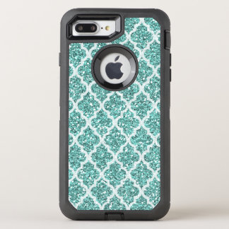 Faux seafoam glitter iPhone 7 plus case