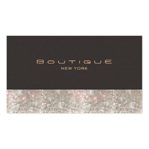 Faux Sequins and Suede Fashion Boutique Business Card Template