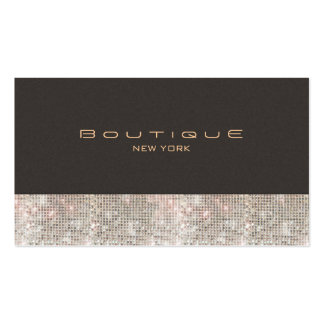 Faux Sequins and Suede Fashion Boutique Pack Of Standard Business Cards