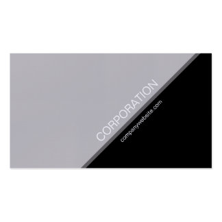 Faux silver angled text modern business card
