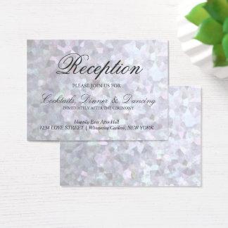 Faux Silver Glitter Foil Reception Card