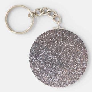 Faux Silver glitter graphic Keychains