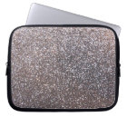 Faux Silver glitter graphic Laptop Sleeve