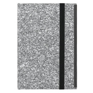 Faux silver glitter pattern iPad mini case