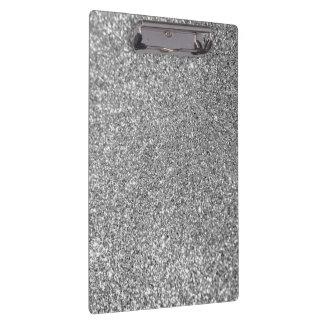 Faux Silver Glitter Photo Clipboard