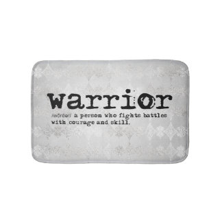 Faux Silver Metallic Warrior Definition Bath Mat