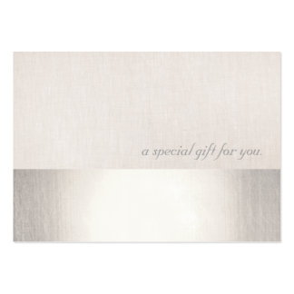 Faux Silver Stripe Modern Beauty Gift Certificate Pack Of Chubby Business Cards