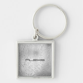 Faux Silver Textured Metal 015 Key Chains