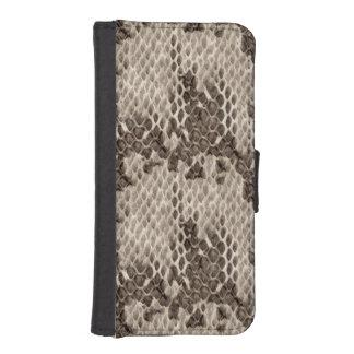 Faux Snakeskin Print iPhone SE/5/5s Wallet Case