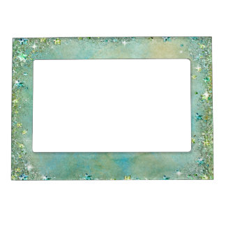 Faux Sparkle, Glitter, Turquoise Sand, Custom Magnetic Frame