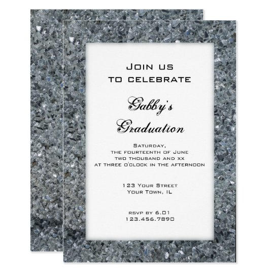 Faux Sparkle Graduation Party Invitation