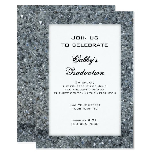 Faux Sparkle Graduation Party Invitation